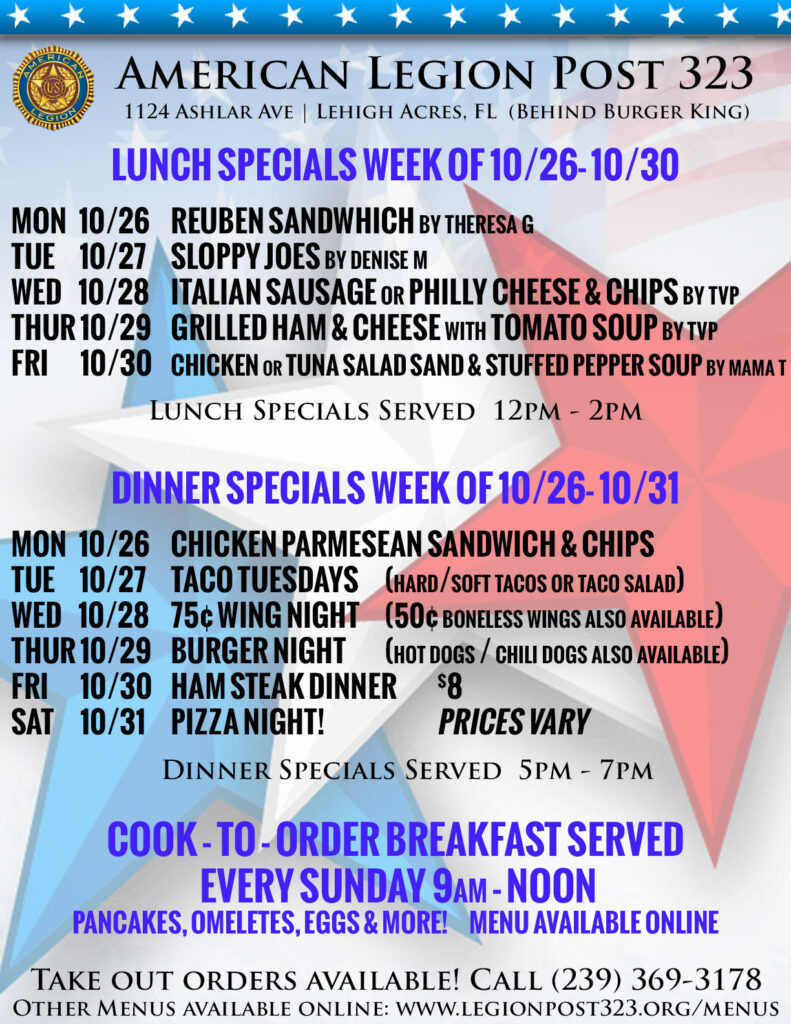 Lunch Specials 102620