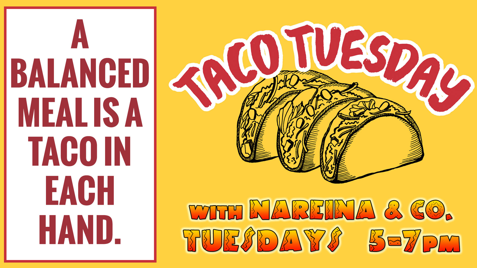 Taco Tuesday Advertisement